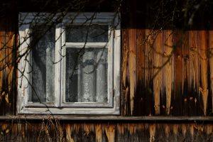 drewno elewacja okno