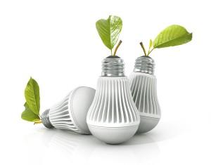 Led lamp isolated on the white background.